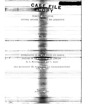 Primary view of Determination of the Air Forces and Moments Produced by the Ailerons of an Airplane