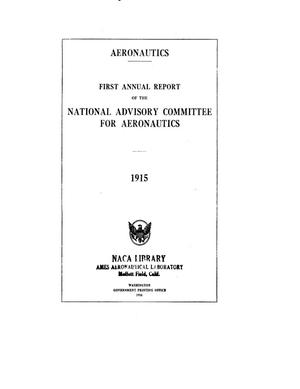 Primary view of object titled 'Annual Report of the National Advisory Committee for Aeronautics (1st). [Administrative Report Including Technical Reports Nos. 1 to 7]'.