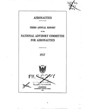 Primary view of object titled 'Annual report of the National Advisory Committee for Aeronautics (3rd).administrative report including Technical Report nos. 13 to 23'.