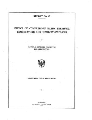 Effect of Compression Ratio, Pressure, Temperature, and Humidity on Power