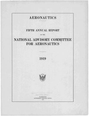 Primary view of object titled 'Annual report of the National Advisory Committee for Aeronautics (5th).administrative report including Technical Reports nos. 51 to 82'.