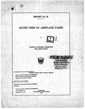 Primary view of object titled 'Glues used in airplane parts'.