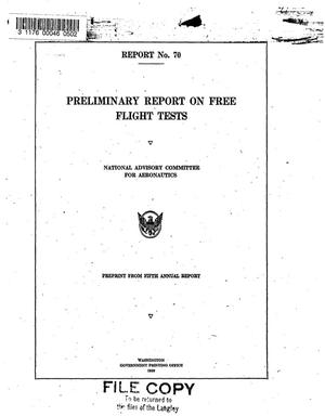 Preliminary report on free flight tests