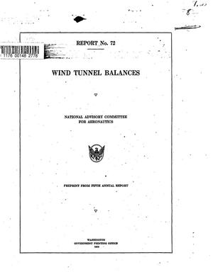 Primary view of object titled 'Wind tunnel balances'.