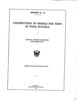 Construction of models for tests in wind tunnels