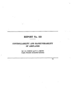 Primary view of Controllability and Maneuverability of Airplanes