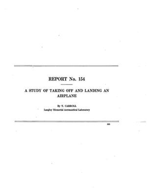Primary view of object titled 'A study of taking off and landing an airplane'.