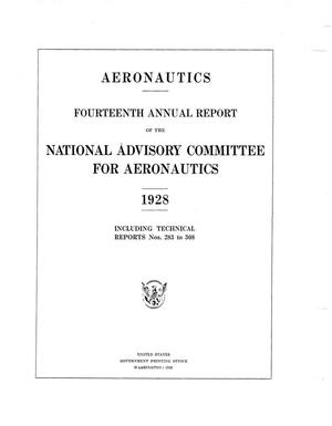 Primary view of object titled 'Annual report of the National Advisory Committee for Aeronautics (14th).administrative report including Technical Reports nos. 283 to 308'.