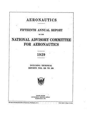 Primary view of object titled 'Annual report of the National Advisory Committee for Aeronautics (15th).administrative report including Technical Reports nos. 309 to 336'.