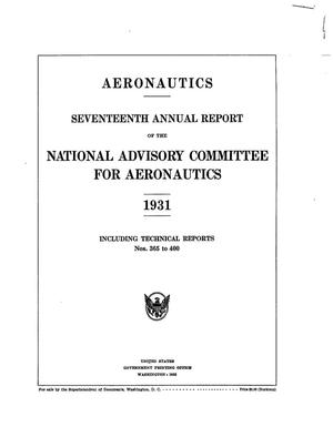 Primary view of object titled 'Annual report of the National Advisory Committee for Aeronautics (17th).administrative report including Technical Report nos. 365 to 400'.