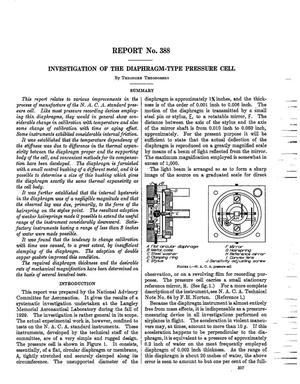 Primary view of object titled 'Investigation of the Diaphragm-Type Pressure Cell'.