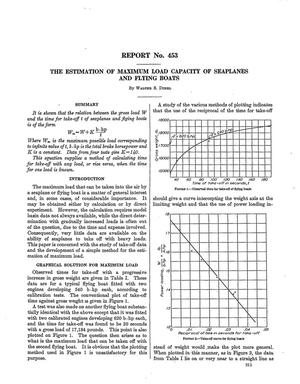 Primary view of The estimation of maximum load capacity of seaplanes and flying boats