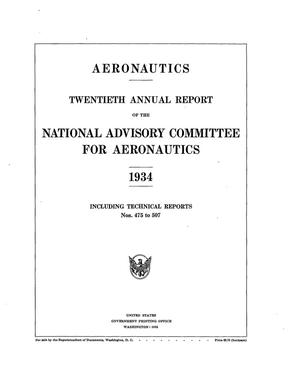 Primary view of object titled 'Annual Report of the National Advisory Committee for Aeronautics (20th). Administrative Report Including Technical Report Nos. 475 to 507'.
