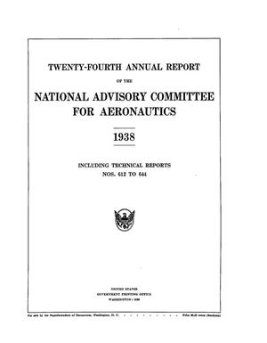 Primary view of object titled 'Annual report of the National Advisory Committee for Aeronautics (24th).administrative report including Technical Report nos. 612 to 644'.