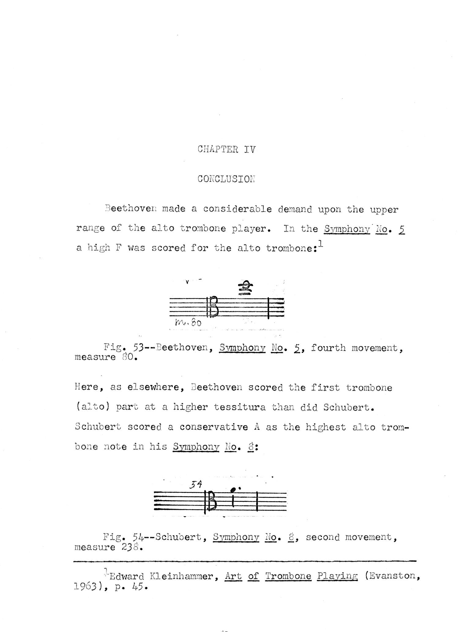 The Use of the Trombones in Beethoven's Symphonies Nos  5, 6, 9, and