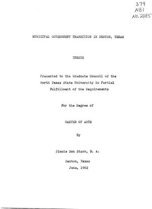 Primary view of object titled 'Municipal Government Transition in Denton, Texas'.