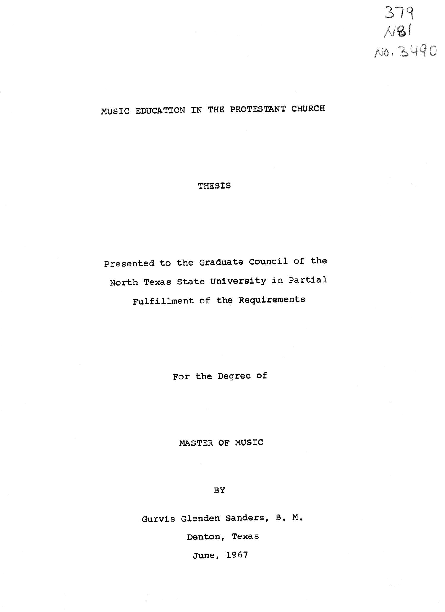 music education master thesis
