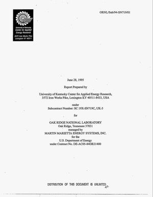 Primary view of object titled 'Activation and micropore structure determination of carbon-fiber composite molecular sieves. Topical report, 30 March 1994--14 April 1995'.