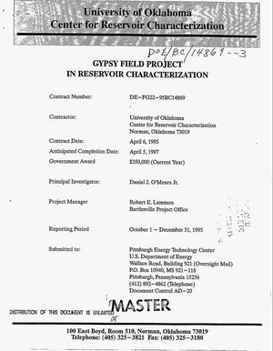 Primary view of object titled 'Gypsy Field project in reservoir characterization. [Quarterly report], October 1--December 31, 1995'.