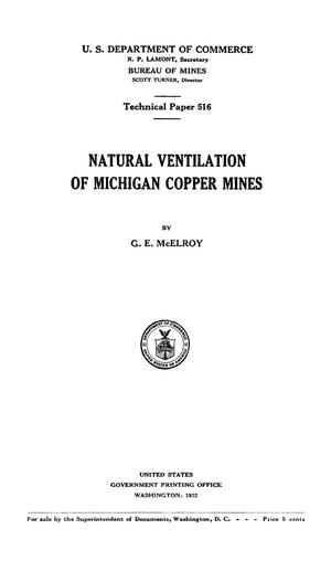 Primary view of object titled 'Natural Ventilation of Michigan Copper Mines'.