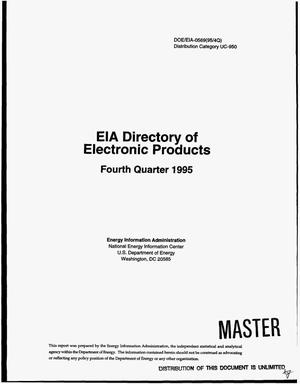 Primary view of object titled 'EIA directory of electronic products. Fourth quarter 1995'.