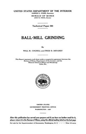 Primary view of object titled 'Ball-Mill Grinding'.