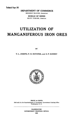 Utilization of Manganiferous Iron Ores