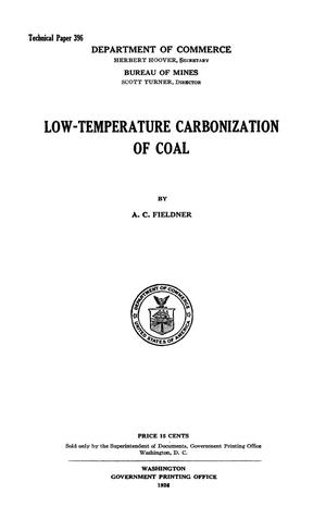 Primary view of object titled 'Low-Temperature Carbonization of Coal'.