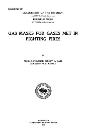 Primary view of object titled 'Gas Masks for Gases Met in Fighting Fires'.