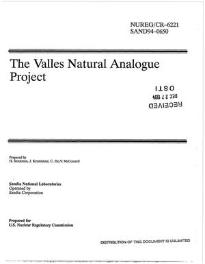 Primary view of object titled 'The Valles natural analogue project'.