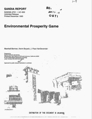 Primary view of object titled 'Environmental Prosperity Game. Final report'.