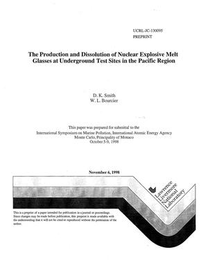 Primary view of object titled 'Production and dissolution of nuclear explosive melt glasses at underground test sites in the Pacific Region'.