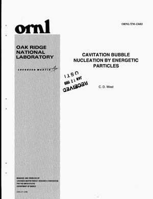 Primary view of object titled 'Cavitation Bubble Nucleation by Energetic Particles'.
