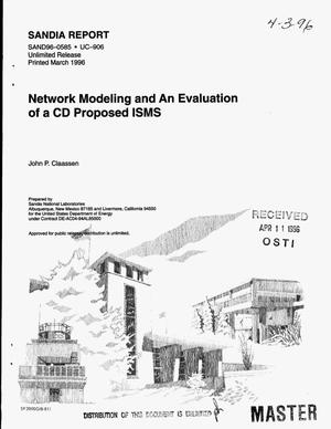 Primary view of object titled 'Network modeling and an evaluation of a CD proposed ISMS'.