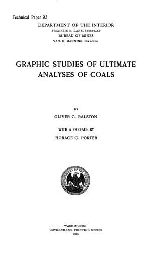 Primary view of object titled 'Graphic Studies of Ultimate Analyses of Coals'.