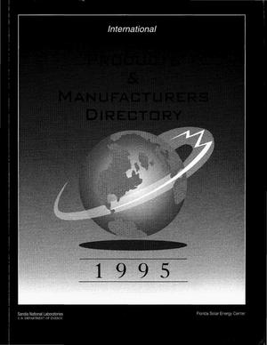 Primary view of object titled 'International photovoltaic products and manufacturers directory, 1995'.