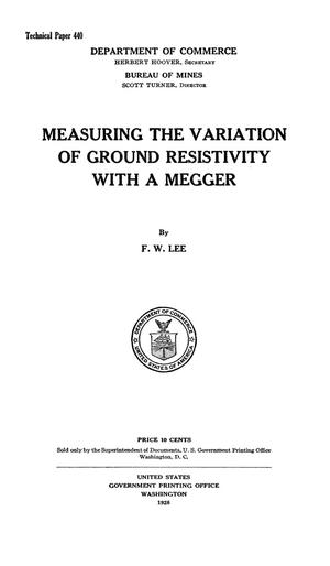 Primary view of object titled 'Measuring the Variation of Ground Resistivity with a Megger'.