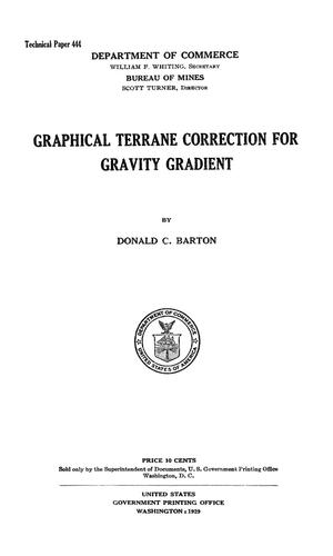 Graphical Terrane Correction for Gravity Gradient