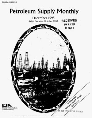 Primary view of object titled 'Petroleum supply monthly, December 1995: With data for October 1995'.