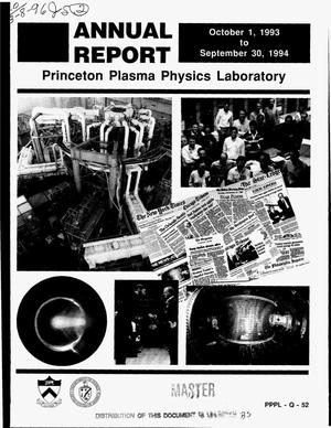 Primary view of object titled 'Princeton Plasma Physics Laboratory annual report, October 1, 1993-- September 30, 1994'.