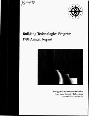 Primary view of object titled 'Building technolgies program. 1994 annual report'.