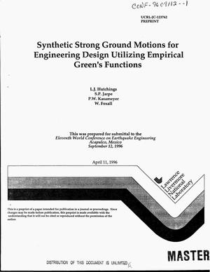 Primary view of object titled 'Synthetic strong ground motions for engineering design utilizing empirical Green`s functions'.