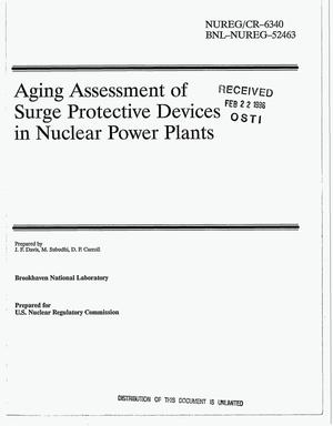 Primary view of object titled 'Aging assessment of surge protective devices in nuclear power plants'.