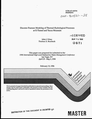 Primary view of object titled 'Discrete-fracture modeling of thermal-hydrological processes at G- tunnel and Yucca Mountain'.