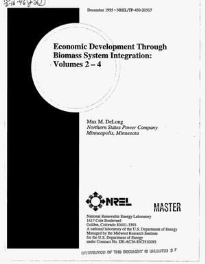 Primary view of object titled 'Economic development through biomass system integration. Volumes 2--4'.