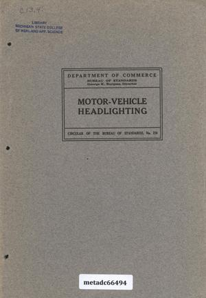 Primary view of object titled 'Motor-Vehicle Headlighting'.
