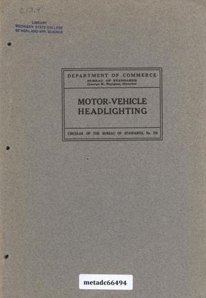 Primary view of Motor-Vehicle Headlighting
