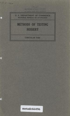 Primary view of object titled 'Methods of Testing Hosiery'.