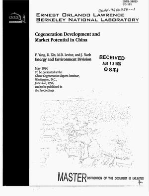 Primary view of object titled 'Cogeneration development and market potential in China'.