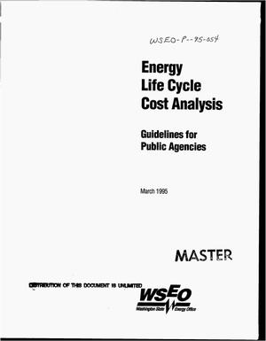 Primary view of object titled 'Energy life cycle cost analysis: Guidelines for public agencies'.